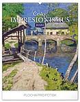 Český Impresionismus 2020, nástěnný kalendář, prodloužená záda