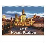 Noční Prahou 2019, nástěnný kalendář, prodloužená záda