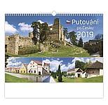 Putování po Česku 2019, nástěnný kalendář, prodloužená záda