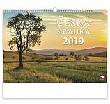 Česká krajina 2019, nástěnný kalendář, prodloužená záda