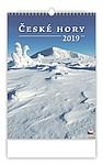 České hory 2019, nástěnný kalendář, prodloužená záda