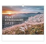 České středohoří 2019, nástěnný kalendář, prodloužená záda