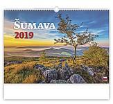 Šumava 2019, nástěnný kalendář, prodloužená záda