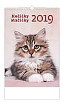 Kočičky 2019, nástěnný kalendář, prodloužená záda