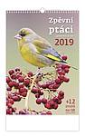 Zpěvní ptáci 2019, nástěnný kalendář, prodloužená záda