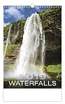 Waterfalls 2019, nástěnný kalendář, prodloužená záda