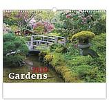 Gardens 2019, nástěnný kalendář, prodloužená záda