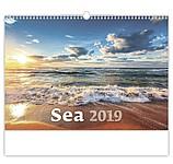 Sea 2019, nástěnný kalendář, prodloužená záda