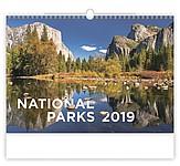 National Parks 2019, nástěnný kalendář, prodloužená záda