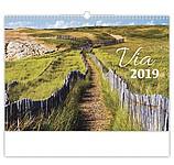 Via 2019, nástěnný kalendář, prodloužená záda