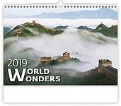 World Wonders 2019, nástěnný kalendář, prodloužená záda