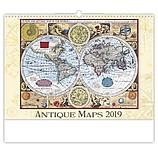 Antique Maps 2019, nástěnný kalendář, prodloužená záda
