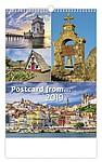 Postcard from... 2019, nástěnný kalendář, prodloužená záda