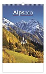 Alps 2019, nástěnný kalendář, prodloužená záda