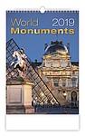 World Monuments 2019, nástěnný kalendář, prodloužená záda