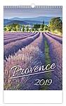 Provence 2019, nástěnný kalendář, prodloužená záda