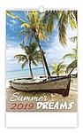 Summer Dreams 2019, nástěnný kalendář, prodloužená záda