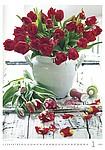Živé květy 2019, nástěnný kalendář, prodloužená záda