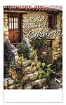 Romantic Corners 2019, nástěnný kalendář, prodloužená záda