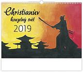 Christianův kouzelný svět 2019, nástěnný kalendář, prodloužená záda