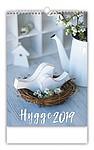 Hygge 2019, nástěnný kalendář, prodloužená záda