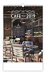 Cafe 2019, nástěnný kalendář, prodloužená záda