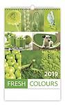 Fresh Colours 2019, nástěnný kalendář, prodloužená záda