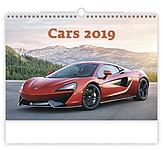 Cars 2019, nástěnný kalendář, prodloužená záda