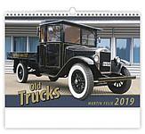 Old Trucks 2019, nástěnný kalendář, prodloužená záda