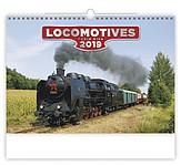 Locomotives 2019, nástěnný kalendář, prodloužená záda