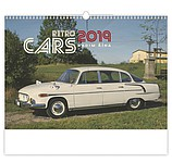 Retro Cars 2019, nástěnný kalendář, prodloužená záda