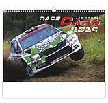 Race Cars 2019, nástěnný kalendář, prodloužená záda