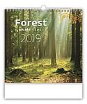 Les 2019, nástěnný kalendář, prodloužená záda