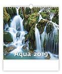 Aqua 2019, nástěnný kalendář, prodloužená záda