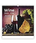 Víno 2019, nástěnný kalendář, prodloužená záda