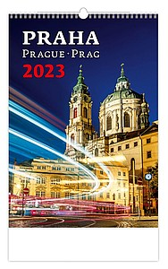 Praha 2021, nástěnný kalendář, prodloužená záda