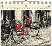 Bicycle 2020, dřevěný nástěnný kalendář