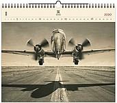 Airplane 2020, dřevěný nástěnný kalendář