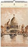 Venezia II. 2020, dřevěný nástěnný kalendář