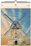 Windmill 2020, dřevěný nástěnný kalendář