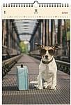 Dog 2020, dřevěný nástěnný kalendář