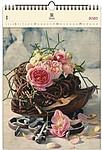 Roses 2020, dřevěný nástěnný kalendář