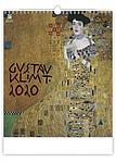 Gustav Klimt 2020, nástěnný kalendář, prodloužená záda