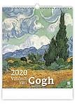 Vincent van Gogh 2020, nástěnný kalendář, prodloužená záda