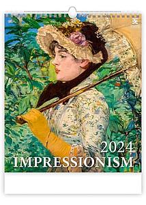 Impressionism 2021, nástěnný kalendář, prodloužená záda
