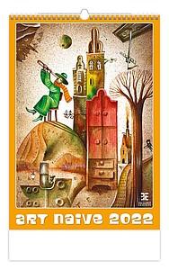 Art Naive 2020, nástěnný kalendář, prodloužená záda