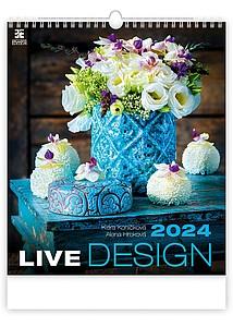 Live Design 2021, nástěnný kalendář, prodloužená záda