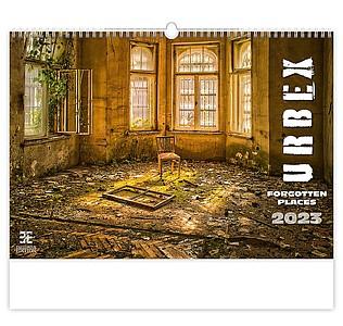 Black Red 2020, nástěnný kalendář, prodloužená záda