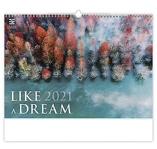 Like a Dream 2021, nástěnný kalendář, prodloužená záda
