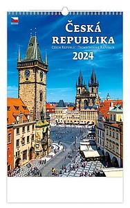 Česká republika 2020, nástěnný kalendář, prodloužená záda